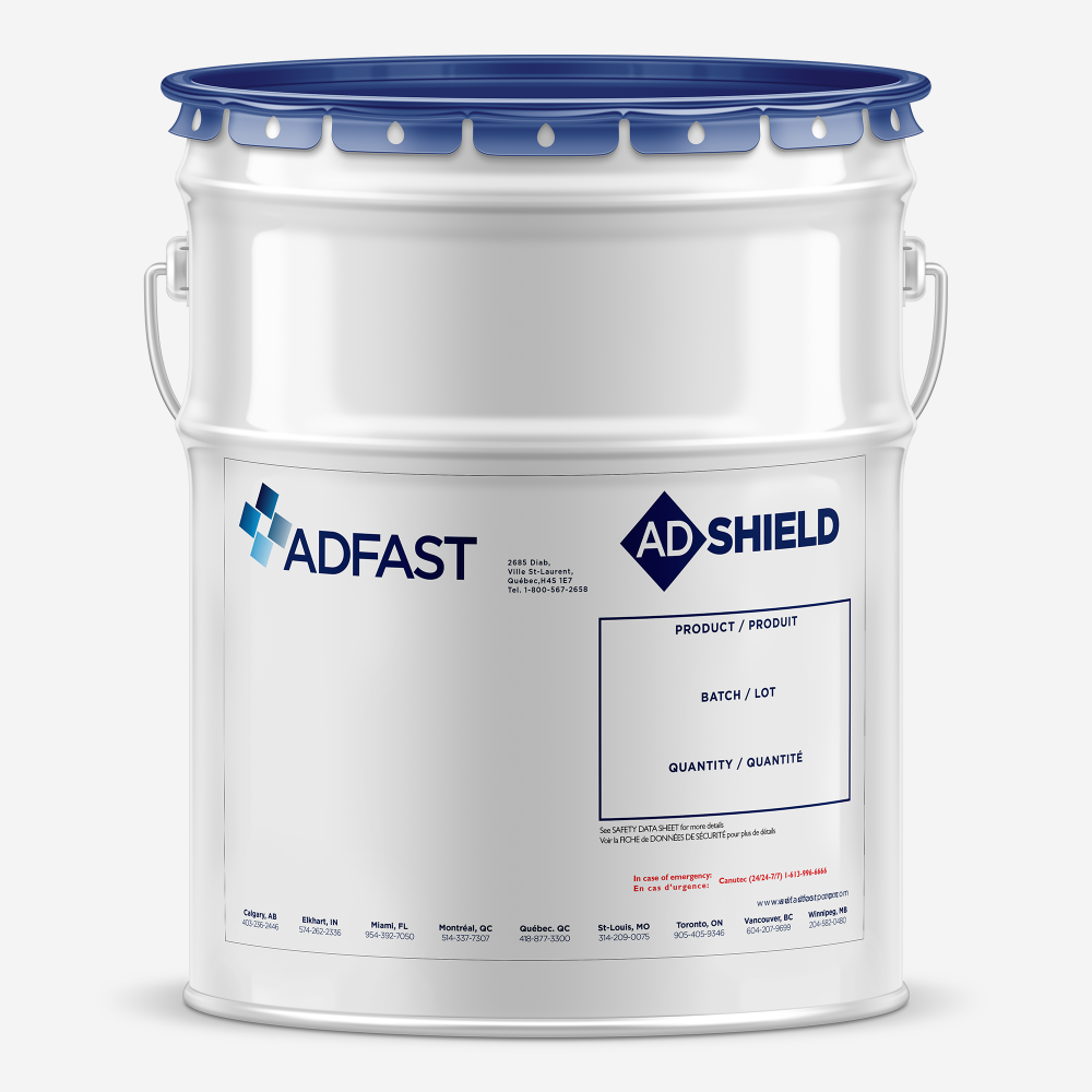 Adshield metal bucket